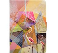 Недорогие -Кейс для Назначение SSamsung Galaxy Вкладка 9,7 Вкладка 8,0 Бумажник для карт со стендом Флип Магнитный С узором Чехол Фламинго Твердый