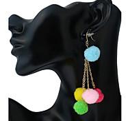 Жен. Застежка серег Серьги-слезки серьги шарика Геометрический Мода Винтаж обожаемый Металлический сплав Бижутерия НазначениеСвидание