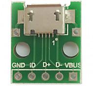 Недорогие -Micro usb для окунания (2,54 мм) гнездовая плата микрофона для микрофона с микрофоном типа b