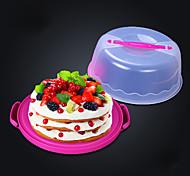 10 inch Portable circular plastic cake box Thickening sealing(Random Color)