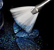 1 lote  5 pcs Gradiente UV Unhas Brilho Em P Escova Forma de Leque Nail Art Pen Design Desenho Pintura Acrlica escova Random color