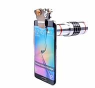 Clipes universais lentes telescópicas ópticas 18x lentes de câmeras lente de zoom telefoto para iphone 7 5 6 s tripé de celular samsung