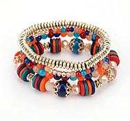 cheap -Women's Strand Bracelet Bohemian Fashion Plastics Round Jewelry Birthday Party / Evening Dailywear Costume Jewelry Black Dark Blue