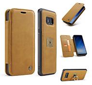 Чехол для samsung galaxy s8 s8 плюс 2 в 1 магнитный роскошный натуральный кожаный телефон бумажник сумка чехол телефон cas s7 край s7