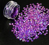 abordables -Glitter Powder Lentejuelas Suministros DIY Flash 3D Chicas y Mujeres Jóvenes Clásico Glamour Brillante Alta calidad Diario Nail Art Design