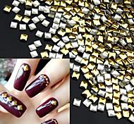 Square Gold DIY 3D Metal Nail Art Decorations 1000pcs/lot Rhinestone Metallic Nail AccessoriesGold Nail StudsManicure Tools