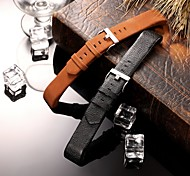 cheap -Watch Band for Fitbit Charge 2 Fitbit Classic Buckle Leather Wrist Strap