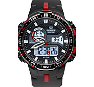 Men's Sport Watch Fashion Watch Digital Water Resistant / Water Proof Stopwatch Rubber Band Black