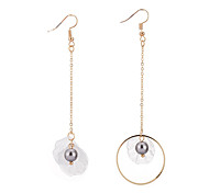 cheap -New Fashion Shell Asymmetric Earrings Women Creative Long Chain Pendant Earring Personality Elegant Party Earrings Accessories Gift Bijouterie