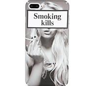 Étui pour Apple iphone 7 plus / 7 motif de couverture cas de dossier casse-tête / phrase sexy femme dure pc iphone 6s plus / 6 plus / 6