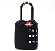 RESET RST-074 Password Padlock ABS Engineering Plastic 3 Digit Password TSA Lock For Travel Trip Trolley Locks Gym Locks Mini Password Door Lock Dail