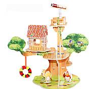 Недорогие -3D пазлы Пазлы Наборы для моделирования Знаменитое здание Лошадь Своими руками Плотная бумага Классика Аниме Мультяшная тематика Детские