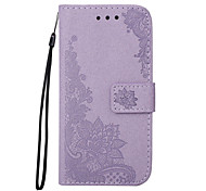For Samsung Galaxy J5(2016) J5 Phone Case PU Leather Material Flash Powder Peacock Flower Pattern Embossed Phone Case J3(2016) J3