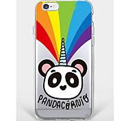 Недорогие -Случай для iphone 7 плюс iphone 6 panda модель телефона мягкая раковина для iphone 7 iphone6 / 6s плюс iphone6 / 6s iphone5 5s se