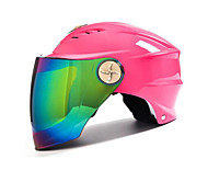 cheap -AD Motorcycle Male Electric Motor Semi-Covered Anti-UV Shade Helmet Colorful Color Film