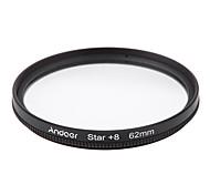 E filtro de filtro de 62mm uv cpl estrela kit de filtro de 8 pontos com estojo para lentes de câmera canon nikon sony dslr