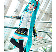 cheap -Cosplay Wigs Vocaloid Hatsune Miku Blue Extra Long / Straight Anime/ Video Games Cosplay Wigs 120 CM Heat Resistant Fiber Female