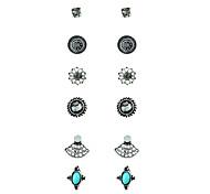 Жен. Серьги-кольца Серьги указан Геометрический Винтаж Готика Металлический сплав Сплав Геометрической формы Бижутерия НазначениеДля