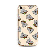 cheap -Case For Apple iPhone X iPhone 8 Plus Transparent Pattern Back Cover Tile Cartoon Animal Soft TPU for iPhone X iPhone 8 Plus iPhone 8