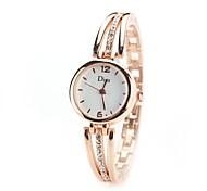 cheap -Women's Quartz Simulated Diamond Watch Wrist Watch Chinese Imitation Diamond Alloy Band Vintage Casual Dress Watch Elegant Fashion Silver