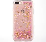 Caso para el iphone 7 más 7 cubierta del caso cubierta patrón que fluye la caja suave del teléfono del materia del tpu del brillo líquido