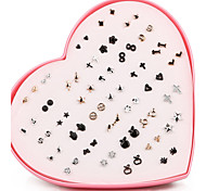 Beadia 36 Pairs Plastic Stud Earrings Set For Women