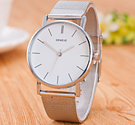 cheap -Men's Quartz Wrist Watch Chinese Stainless Steel Band Casual Minimalist Fashion Silver