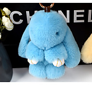 Bag / Phone / Keychain Charm Rabbit Cartoon Toy Rex Rabbit Fur 18CM