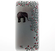 Case For Samsung Galaxy S8 S8 Plus Case Cover Elephant Pattern 3D Relief Milk TPU Material Phone Case For Galaxy S7 S7 Edge S6 S6 Edge