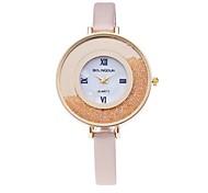 Mulheres Único Criativo relógio Relógio Casual Relógios Femininos com Cristais Relógio de Moda Relógio de Pulso Chinês Quartzo PU Banda