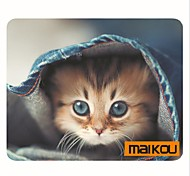 cheap -Maikou Mouse Pad Cat Wears Eyeglasses PC Mat Computer Supply Accessory