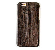 Случай для яблока iphone 7 плюс крышка iphone 7 с крышкой случая задней части стойки древесины твердой кожи pu для iphone 6s плюс iphone