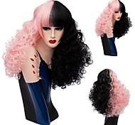 Недорогие -Искусственные волосы парики Кудрявый Без шапочки-основы Парик из натуральных волос Средние