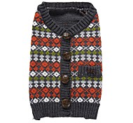 cheap -Cat Dog Coat Sweater Christmas Dog Clothes Plaid/Check Red Spandex Cotton/Linen Blend Costume For Pets Party Casual/Daily Cosplay Keep