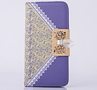 cheap -Case for Apple iPhone 6s Plus iPhone 6 Plus Cover Wallet with Stand Flip Full Body Case Butterfly Lace Printing Hard PU Leather   iPhone 6