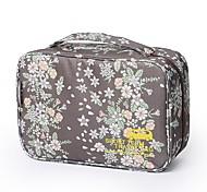 Недорогие -Дорожная сумка Косметичка Органайзер для чемодана Водонепроницаемость Компактность Милые для Одежда Нейлон 29*11*18 Цветочный принт