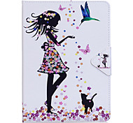abordables -Funda Para Apple iPad Mini 4 Mini iPad 3/2/1 iPad 4/3/2 iPad Air 2 iPad Air con Soporte Flip Funda de Cuerpo Entero Mariposa Chica Sexy