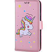 Case for Samsung Galaxy J7 (2017) J5 (2017) Case Cover Card Holder Flip Pattern Full Body Case Unicorn Hard PU Leather for Samsung J3 (2017) J310 J510