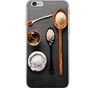 Недорогие -Случай для яблока iphone 7 7 плюс крышка случая приправа картины hd покрасили более толстый материал tpu мягкого случая случая телефона