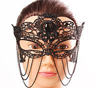 Недорогие -Европа и америки стиль элегантная женщина черный кружевной бабочка вставной кисточкой маска женский костюм вечеринка вечерняя половина