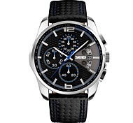 Men's Fashion Watch Wrist watch Japanese Quartz Calendar / date / day Water Resistant / Water Proof Stopwatch Noctilucent Plastic Band