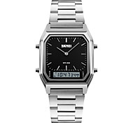 cheap -SKMEI Men's Quartz Wrist Watch Casual Watch Stainless Steel Band Charm Fashion Silver