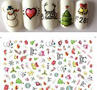 1pcs Happy Merry Christmas Nail Art 3D Sticker Cute Design Fashion Xmas Self Adhesive DIY Manicure Beauty F280