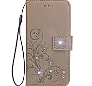 Case For Xiaomi Redmi 4A 4X Case Card Holder Wallet Rhinestone with Stand Flip Embossed Full Body Case Flower Hard PU Leather for Redmi 2 3S 4 4 Prime