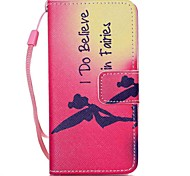 cheap -Case For Apple ipod touch 5 touch 6 Case Cover Card Holder Wallet with Stand Flip Pattern Full Body Case Word / Phrase Hard PU Leather