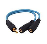 3,5 milímetros de áudio Jack Divisor, 3,5 milímetros de áudio Jack to 3,5 milímetros de áudio Jack Divisor Macho-Fêmea 0.2m (0.65Ft)