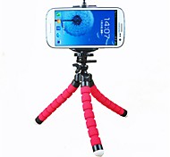 ASJ-Colorful Mini Flexible Sponge Tripod Holder For Cell Phone