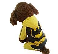 Недорогие -Собака Плащи Одежда для собак На каждый день Мультипликация Желтый Костюм Для домашних животных