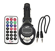 Lute Shaped FM Transmitter Adapter Car Kit MP3 Player Remote Control SD USB Slot --1 pcs