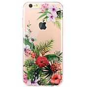 cheap -Case For Apple iPhone 7 Plus iPhone 7 Ultra-thin Transparent Pattern Back Cover Flower Soft TPU for iPhone 7 Plus iPhone 7 iPhone 6s Plus